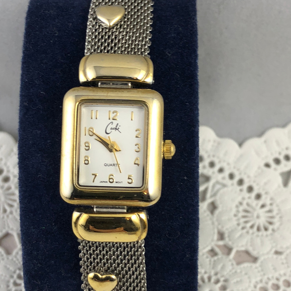 Cache Other - Vintage Cache Watch & Bracelet 2 Tone Gold Silver
